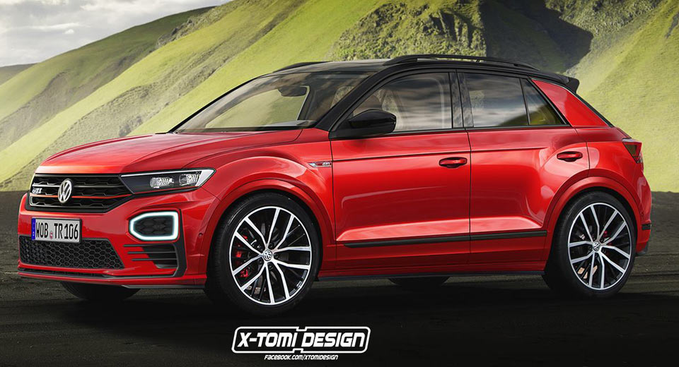 vw t roc has already spawned a gti render and it looks good. Black Bedroom Furniture Sets. Home Design Ideas