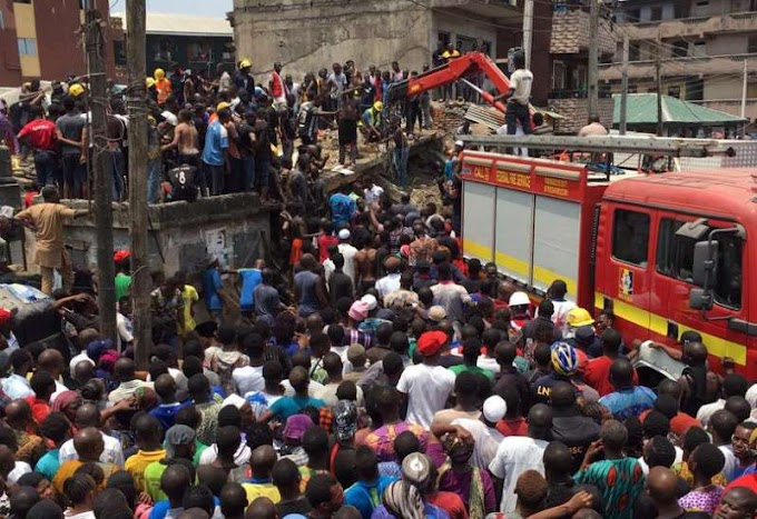 School children trapped as building collapses in Lagos