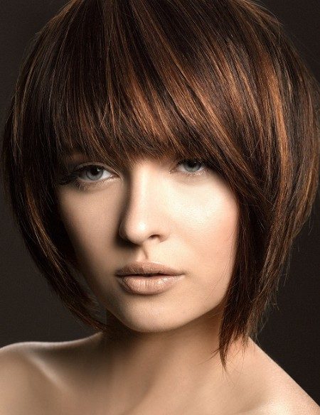 Freshly Short Choppy Hairstyles With Bangs Hair 2012