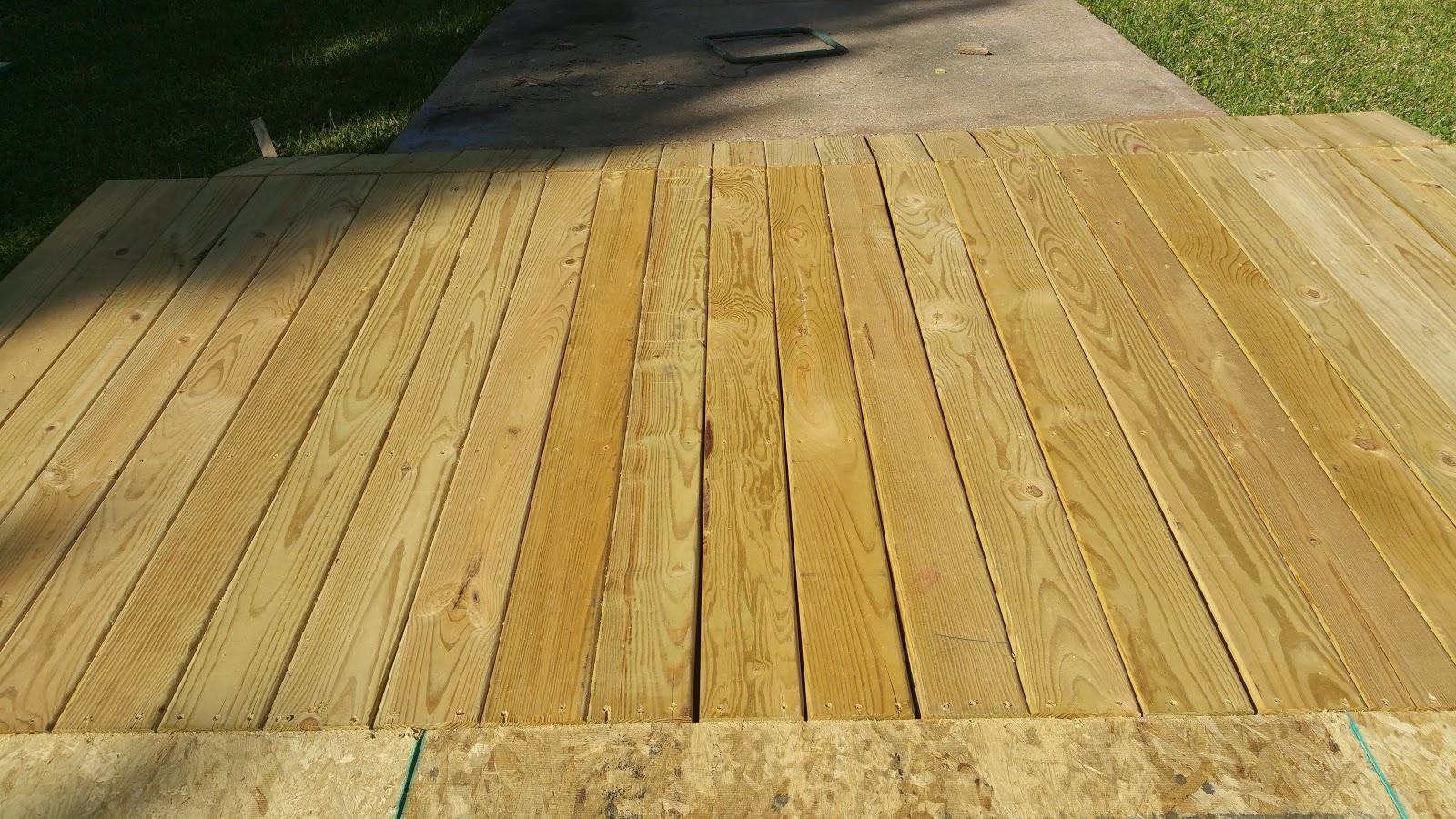 Oh no that did not happen for 4 8 meter decking boards