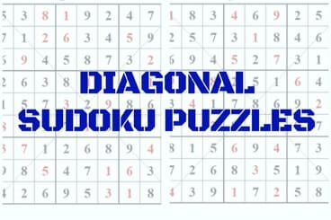 Diagonal Sudoku Puzzles Main Page-Brain Teasers Puzzles Riddles