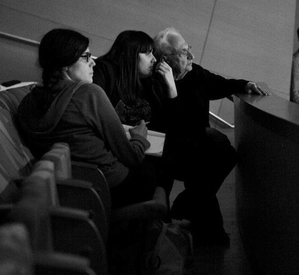 Kate and Laura Mulleavy, the Rodarte creative duo, and Frank O. Gehry