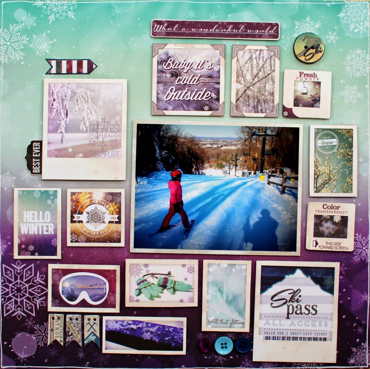 What a Wonderful World layout by Ilene Tell using BoBunny Altitude collection