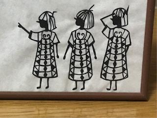 影織の切り絵「憧憬」(一部)