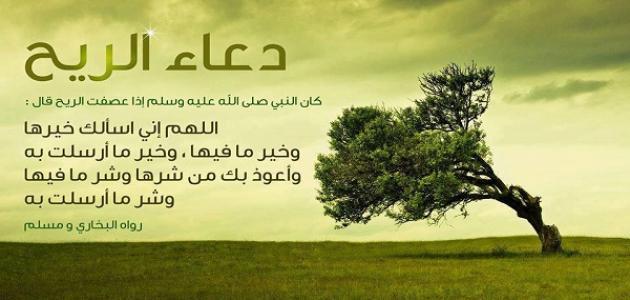 دعاء الريح والغبار المستجاب عن الرسول صلي الله عليه وسلم
