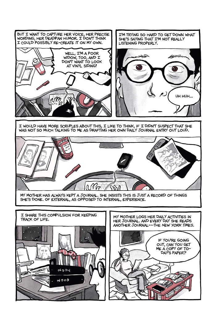 Page 12, Chapter 1: Ordinary Devoted Mother from Alison Bechdel's graphic novel Are You My Mother