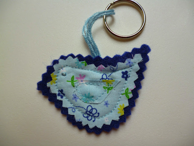 Twitter Bird Key Ring