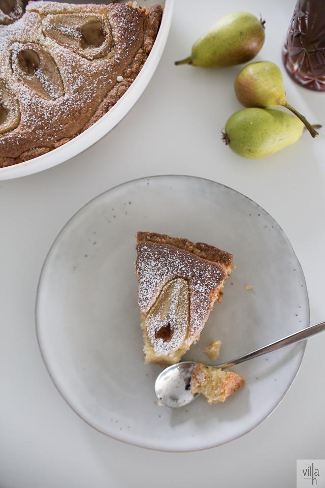 gluteeniton päärynäpiirakka, leivonta, syksyn satoa