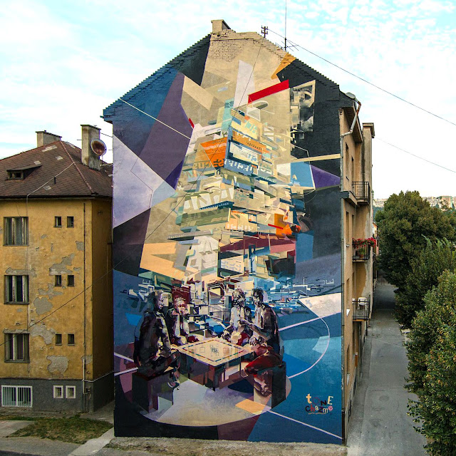 Robert Tone Proch and Chazme MURAL IN Kosice , Slovakia