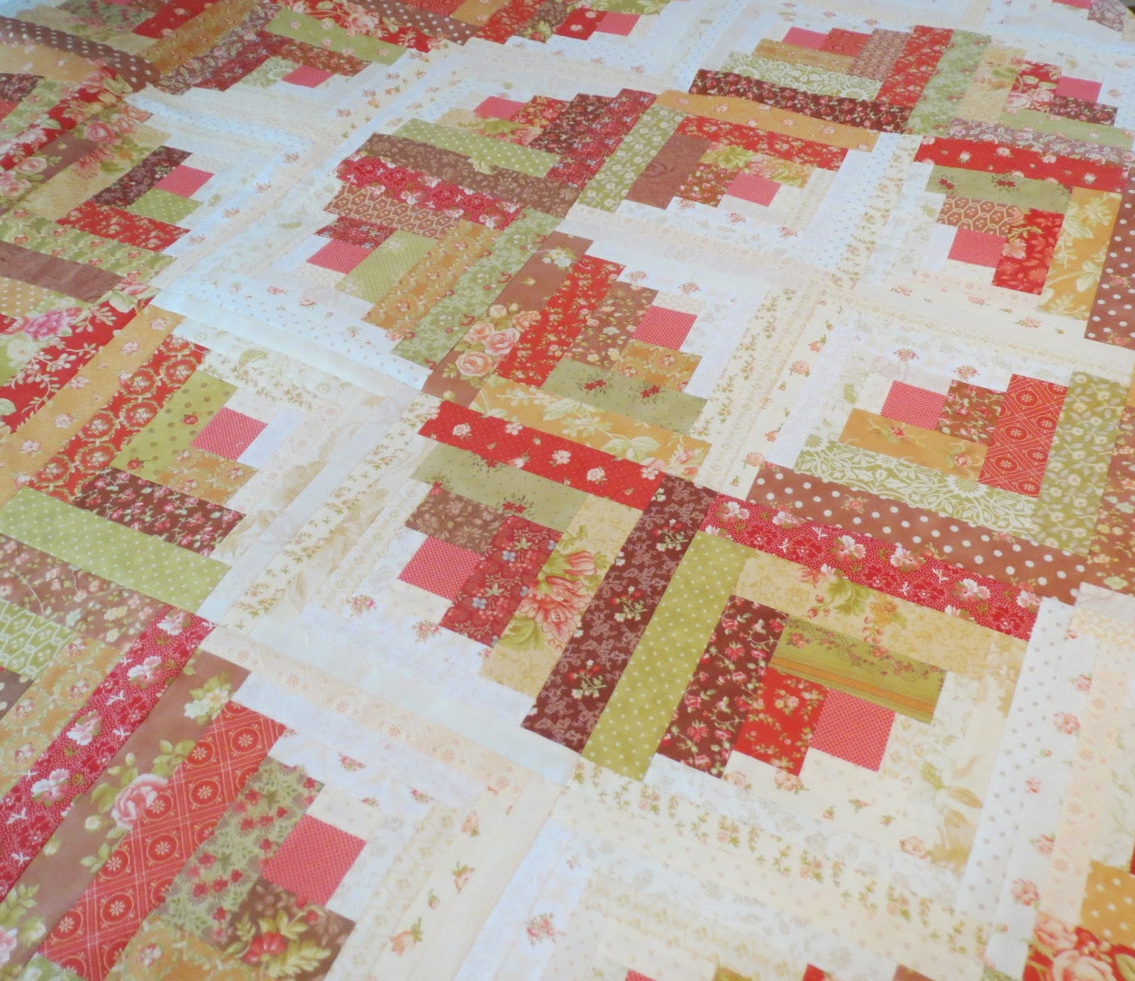 Quilting on Main Street: Curved Log Cabin