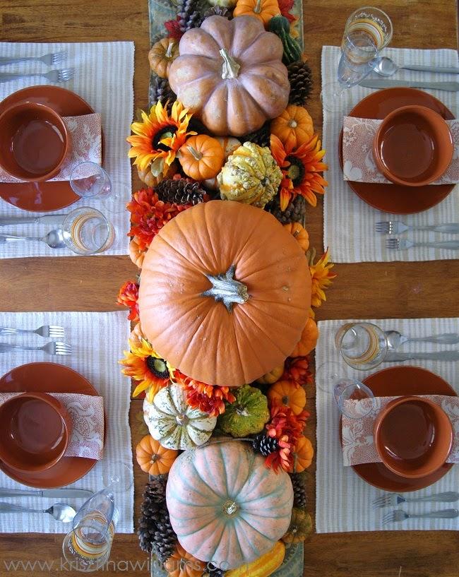 A Pumpkin Harvest Table Setting