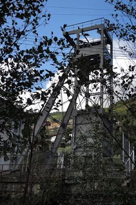Castillete auxiliar del Pozo Santa Bárbara, 2015