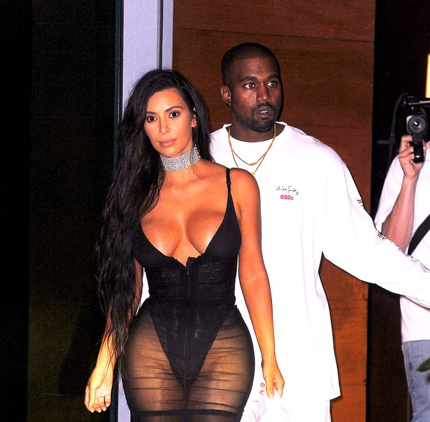 Kim-Kardashian-looks-stunning-in-a-curvy-lingerie-dress-as-she-heads-out-with-Kanye-West-in-Miami