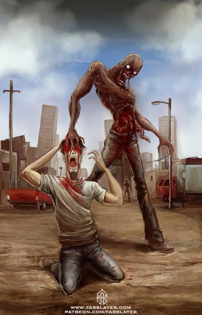 zombie monster digital illustration