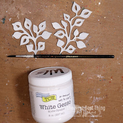Step Five paint chipboard with White Gesso