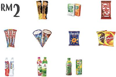 Petronas Kedai Mesra RM2 Snack Drink