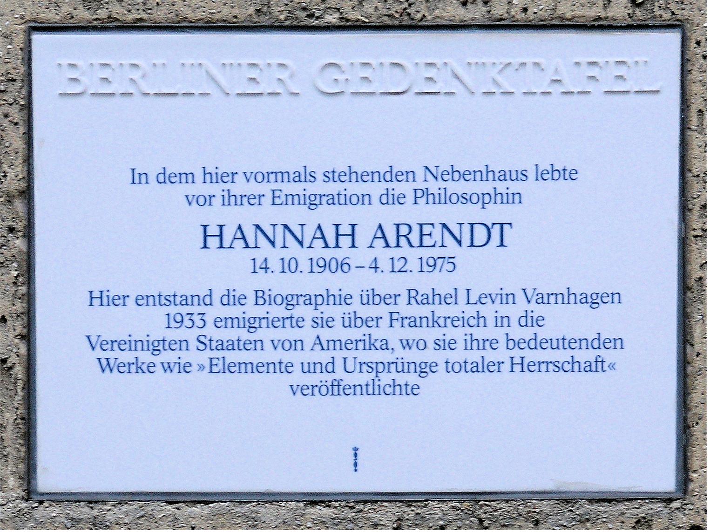 Hannah Arendt Weimar Berlin