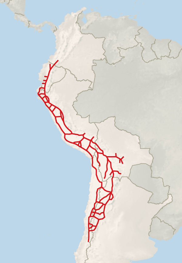 inca roads map - photo #1