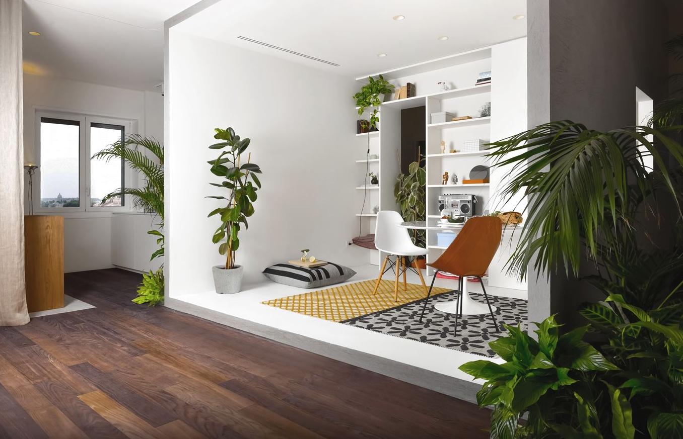 Appartamento con piante decorative integrate a milano by for Piante decorative