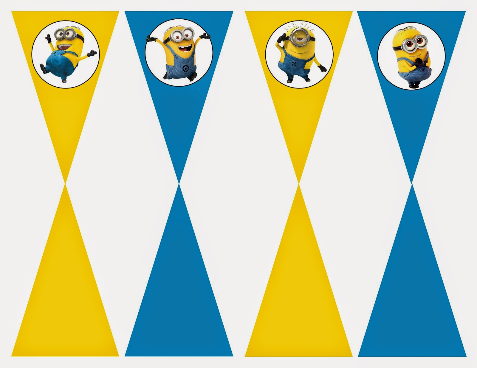 Minions Free Printable Bunting Labels And Toppers Oh My Fiesta