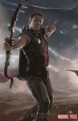 San Diego Comic-Con 2011 The Avengers Concept Art Avengers Assembled Character Movie Posters Banner - Jeremy Renner as Hawkeye