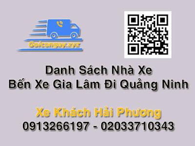 xe đi bến xe móng cái bến xe gia lâm đi Quảng Ninh