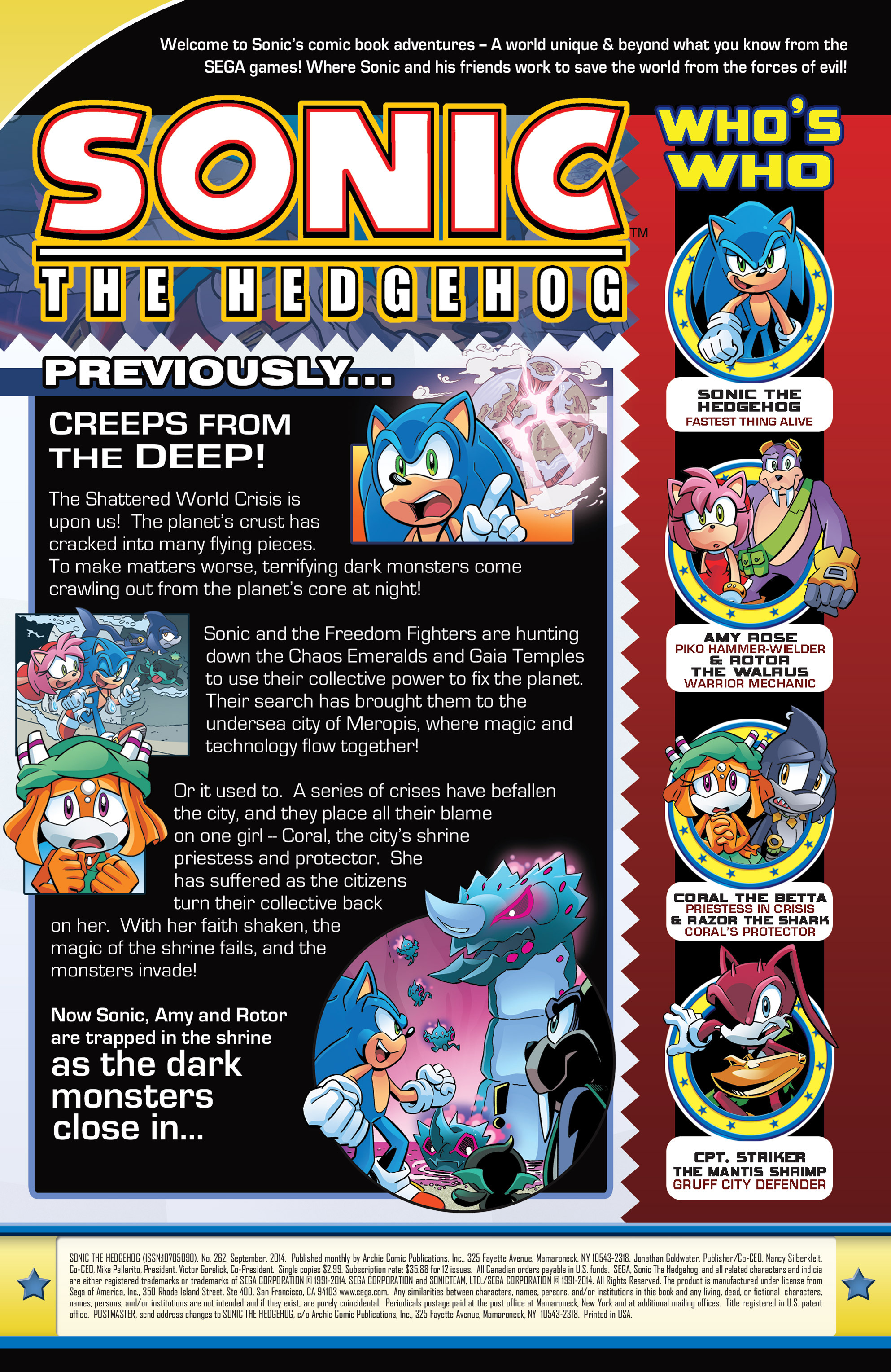 Read online Sonic The Hedgehog comic -  Issue #262 - 2