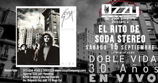 El Rito de Soda Stereo presenta Doble Vida ¡30 años!