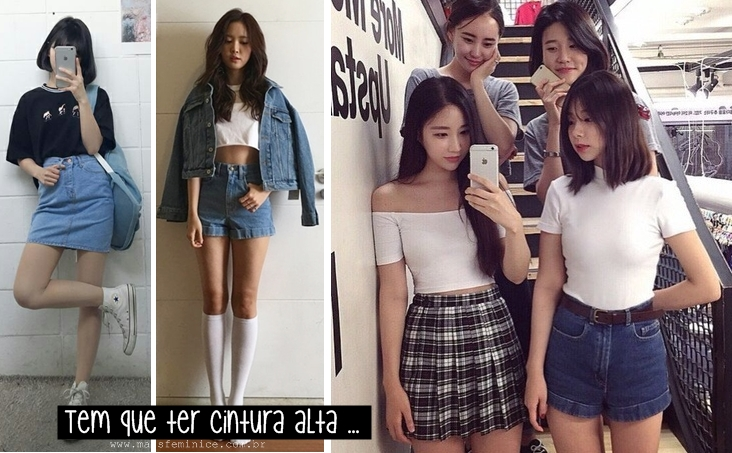Moda Coreana: Cintura alta