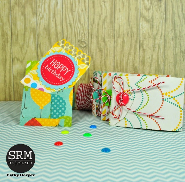 SRM Stickers Blog - by Cathy Harper - #stickers #birthday #box #cards