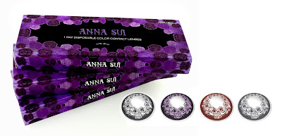 Anna Sui Roses 1-Day Disposable Color Contact Lenses Review Singapore