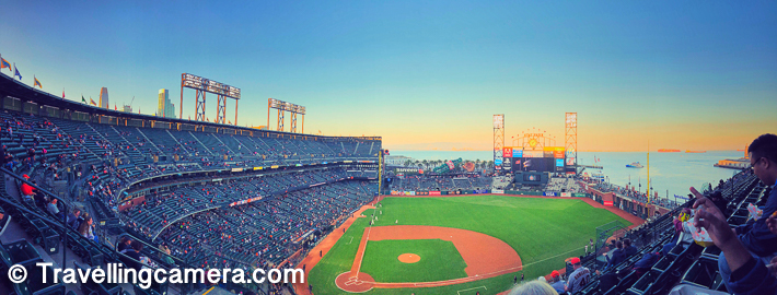 Recently when I was in San Francisco, one of my office friend planned a visit to AT&T Park for Baseball match. I had never watched baseball match in my life but certainly it was a great opportunity to watch it live and also experience the environment in a baseball stadium.