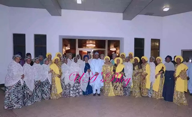 Presiddent Buhari met with wives of 36 governors. Photo credit: Sunday Aghaeze