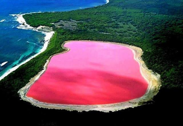 Danau Hillier, pulau Middle, Australia