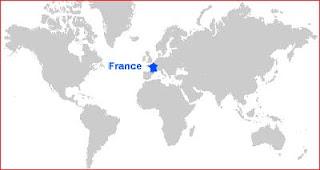 Gambar Peta letak Prancis