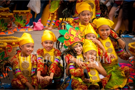 Colorful costumes of the Sinulog Grand Parade