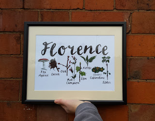 Woodland name print by Alice Draws The Line
