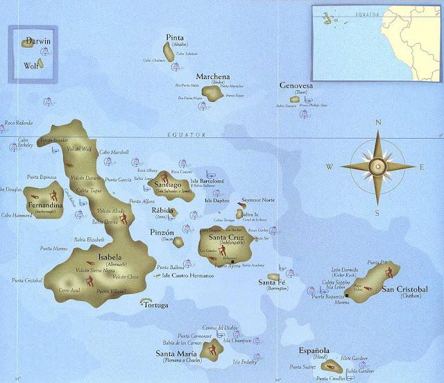 map galapagos ecuador