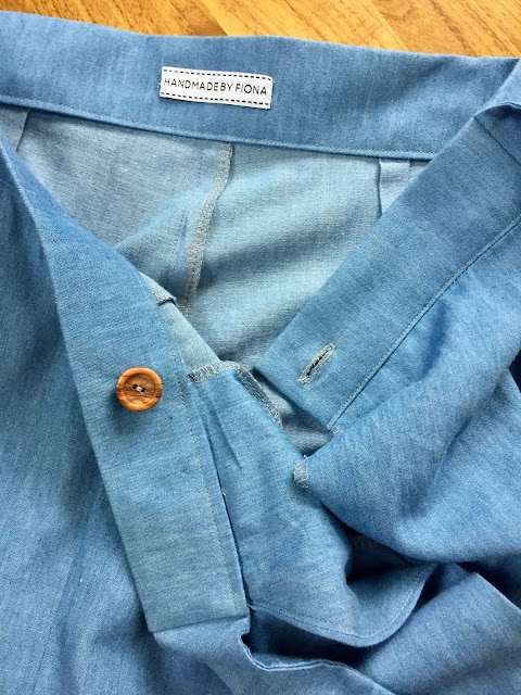 Diary of a Chain Stitcher: Chambray Flint Pants from Megan Nielsen