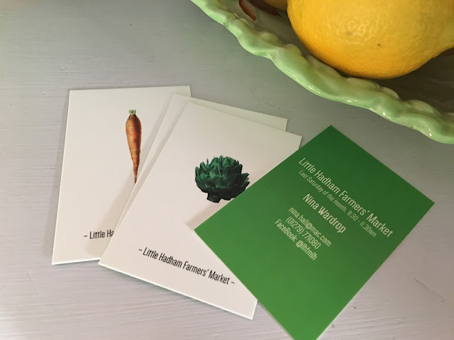 Little Hadham Farmers' Market business cards