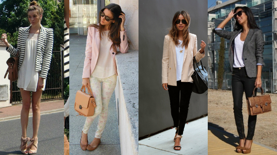 looks com blazer neutro