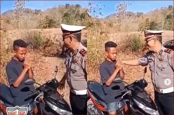 Hendak Ditilang Polisi, Pemuda Ini Malah Lakukan Jurus Seperti Di Film Kartu Naruto