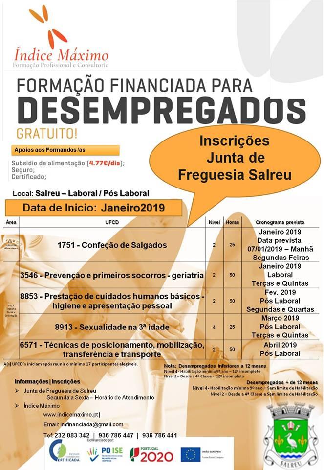 Formação para desempregados em Salreu