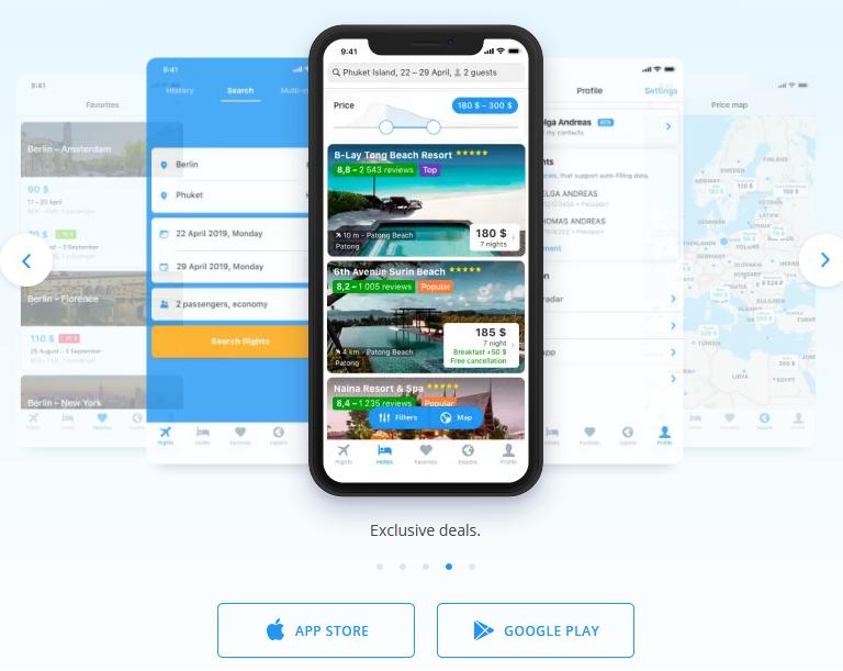 Ooho.i - Mobile App Voli e Hotel