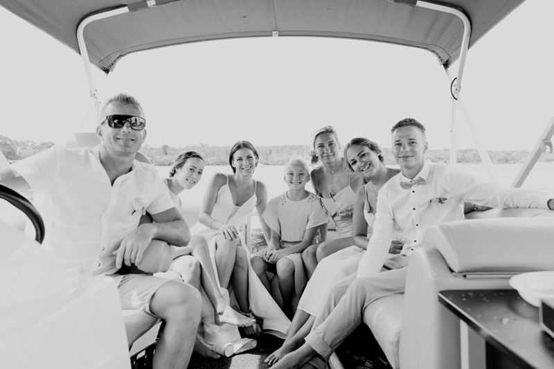 noosa wedding boat hire