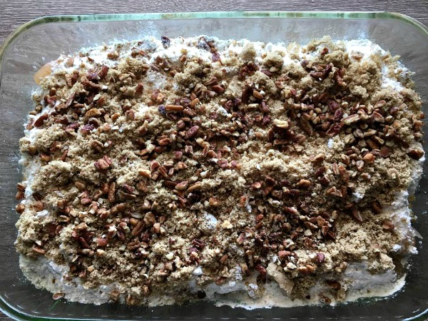Apples, Cake Mix, Brown Sugar, Pecans for Apple Dump Cake from Walking on Sunshine Recipes