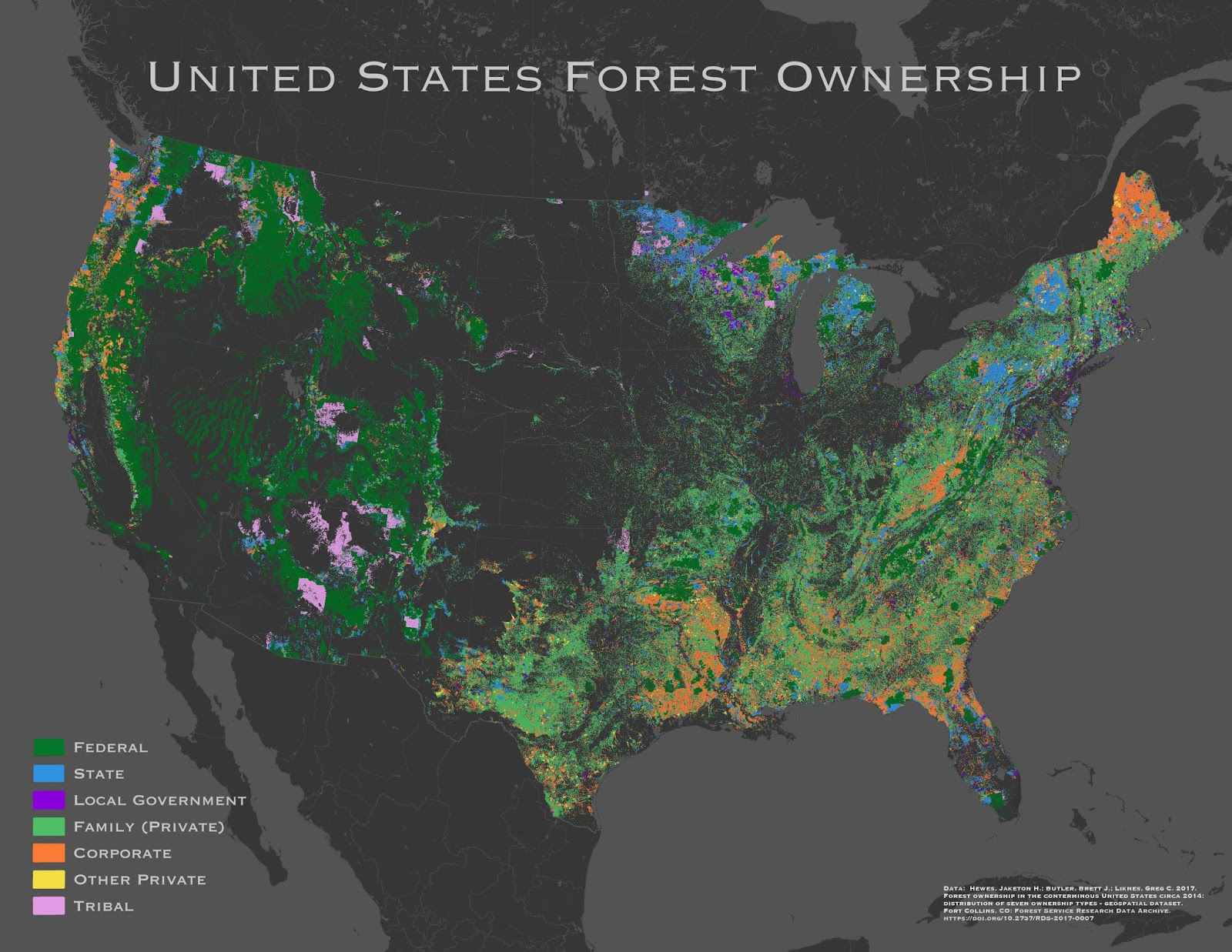 Forest Ownership in the U.S.