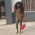StyleWar! Acttress Ini Edo steps Rocks Camouflage pants and sneakers