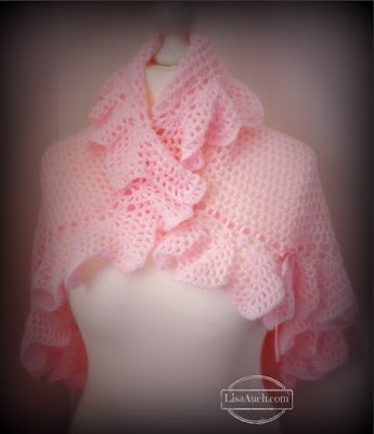 FREE Crochet Pattern Circular Crochet Baby Shawl