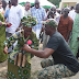 Photos: Governor Fayose pictured dancing with old woman